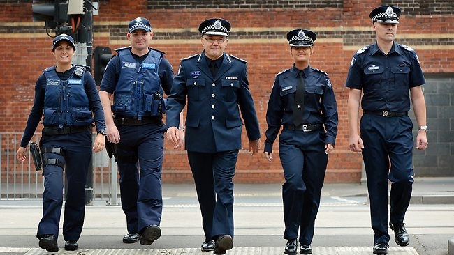 latest victoria police graduates the first to wear the new