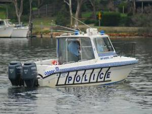 240547-water-police-at-paynesville-in-gippsland-region